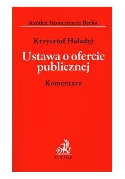Ustawa o ofercie publicznej Komentarz