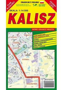 Kalisz 1:14 500 plan miasta PIĘTKA