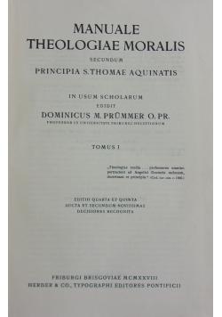 Manuale theologiae moralis, Tomus I, 1928 r.
