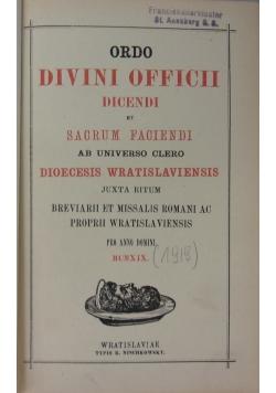 Ordo Divini Officii dicendi, 1919 r.