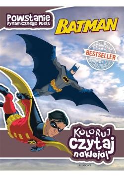 Koloruj, czytaj, naklejaj. Batman