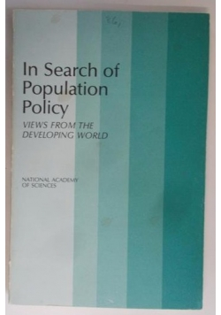 In Search of Population Policy