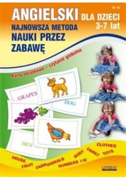Angielski dla dzieci z.15 3-7 Lat Karty obrazkowe