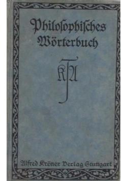 PHILOSOPHISCHES WORTERBUCH, 1921 r.