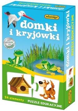 Puzzle edukacyjne - Domki i kryjówki