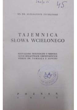 Tajemnica Słowa Wcielonego, 1935 r.