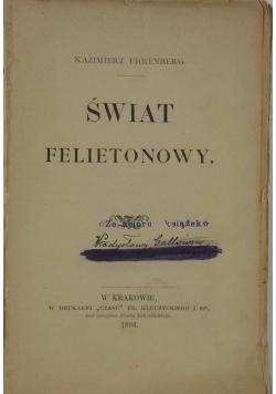 Świat felietonowy, 1894r.