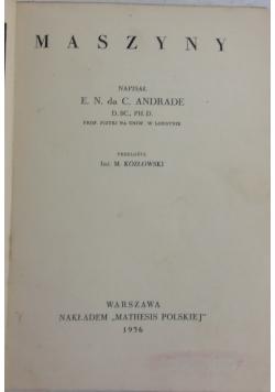 Narzędzia ludzkiej potęgi, tom I, 1936 r.
