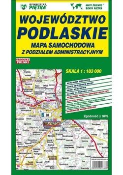 Województwo Podlaskie 1: 183 000 mapa samochodowa