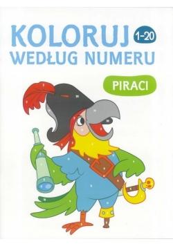 Koloruj według numeru Piraci