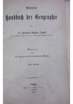 Rleineres handbuch der Geographie 1877r.