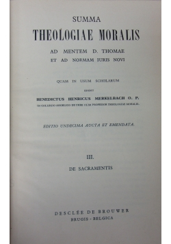 Summa Theologiae Moralis