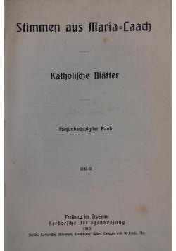 Stimmen aus Maria-Laach katholische Blätter, 1913 r.