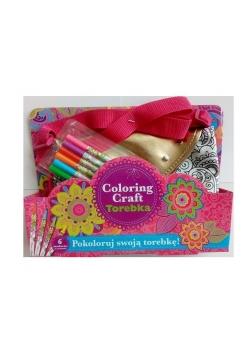 Coloring Craft. Torebka metaliczna kopertówka