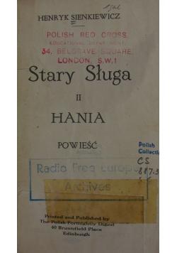 Stary Sługa II, Hania, 1920r.