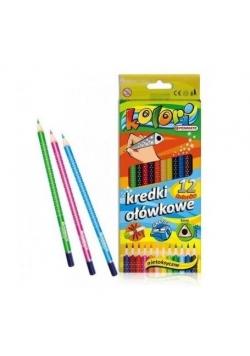 Kredki Premium Kolori ołówkowe 12 kolorów PENMATE