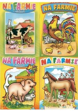 (093) Na farmie. Malowanka z naklejkami MIX