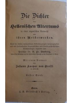 Die dichter des gellenifchen ultertums ,1841r.