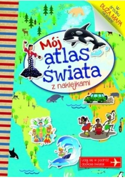 Mój atlas świata z naklejkami