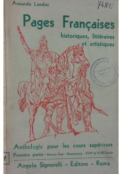 Pages Francaises historiques, litteraires et artistiques, 1948 r.