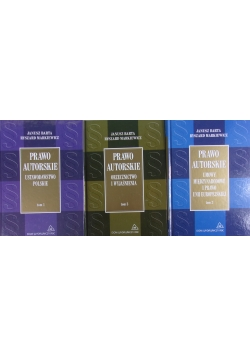 Prawo autorskie, tom 1-3