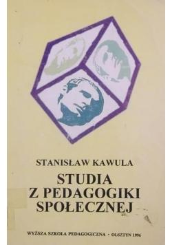 Studia z pedagogiki społecznej