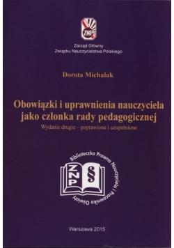 Obowiązki i uprawnienia nauczyciela jako członka rady pedagogicznej