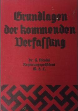 Grundlagen der fommenden Berfassung, 1933r.