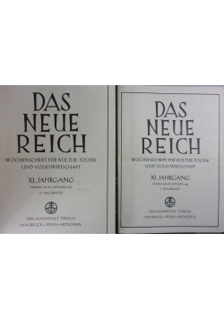 Das Neue Reich ,Tom I,II,1930r.