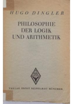 Philosophie Der Logik und Arithmetik, 1931 r.