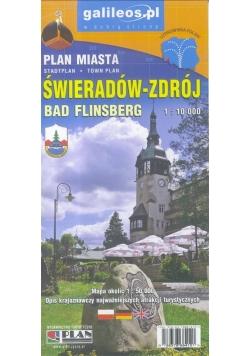 Plan miasta - Świeradów-Zdrój 1:10 000