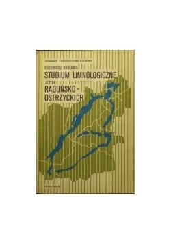 Studium limnologiczne jezior raduńsko-ostrzyckich