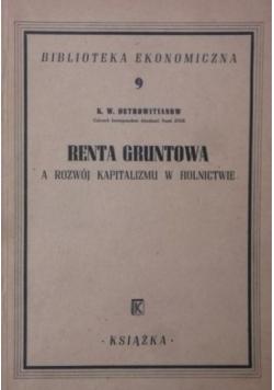 Renta gruntowa a rozwój kapitalizmu w rolnictwie, 1948r.