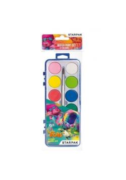 Farby akwarelowe 12 kolorów Trolls