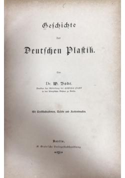 Geschichte der deutschen plastik,  ok.1886 r.
