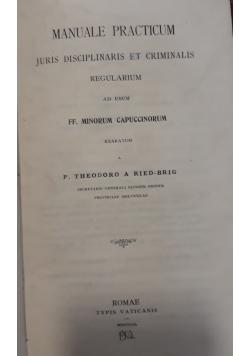 Manuale Practicum, 1902 r.