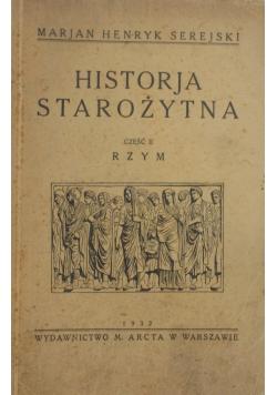 Historia Starożytna cz. II, 1932r.