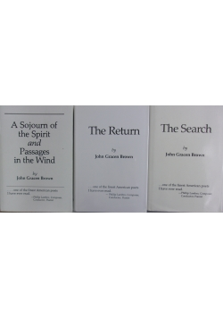 The Search/The Return/A Sojourn of the Spirt