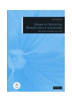 Homo et societas Wokół pracy socjalnej, Nowa