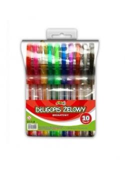Długopis żelowy Kolori brokatowy 10 kol. PENMATE