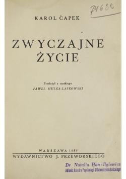 Zwyczajne życie, 1935r.