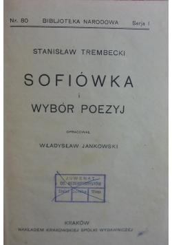 Sofiówka i wybór poezyj, 1925r.