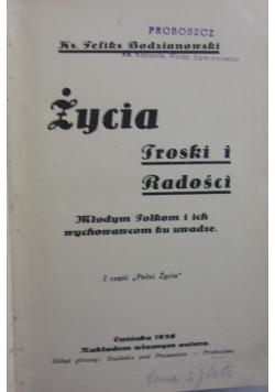 Życia troski i radości, 1936r.