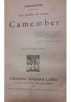 Les faceties du sauper Camember, 1937r.