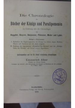 Der Bucher Der Konige und Paralipomenon, rok 1889