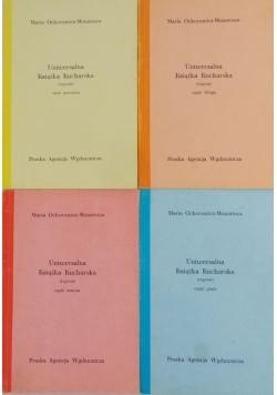 Uniwersalna książka kucharska, część I-III i V,reprint 1910 i 1926