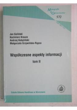 Współczesne aspekty informacji, tom II