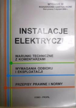 Instalacje elektryczne , wydanie III