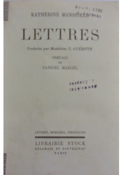 Lettres, 1931r.