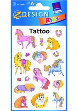Tatuaże błyszczące - Kucyki